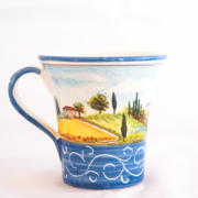 Bicchiere Paesaggio Toscano Blu