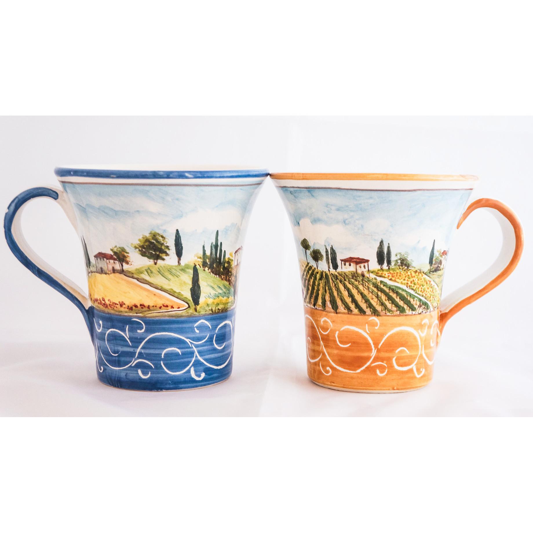 Bicchiere Trombetta Paesaggio Toscano