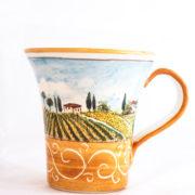 Bicchiere a Trombetta Con Decoro Toscano