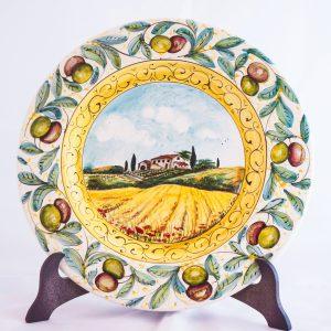 Piatto Paesaggio Toscano con Olive