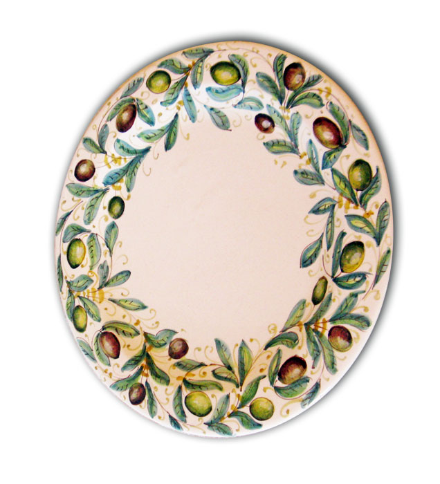 Olive-charger-plate